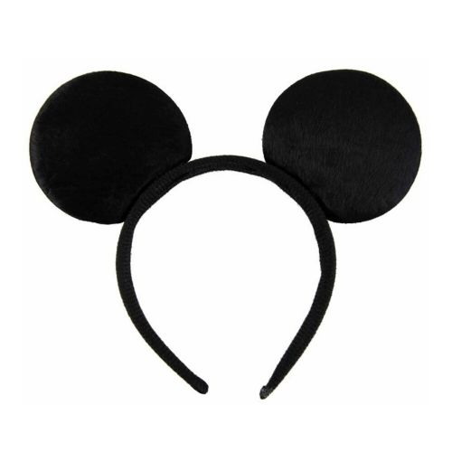 Black Soft Minnie Mouse Ears Alice Hair Band